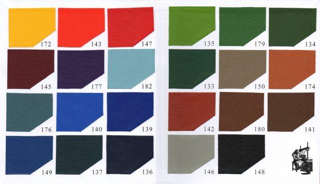 buckram cloth chart
