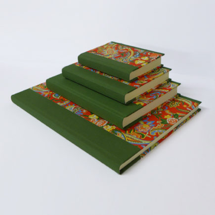 handmade notebooks dragon flower pattern