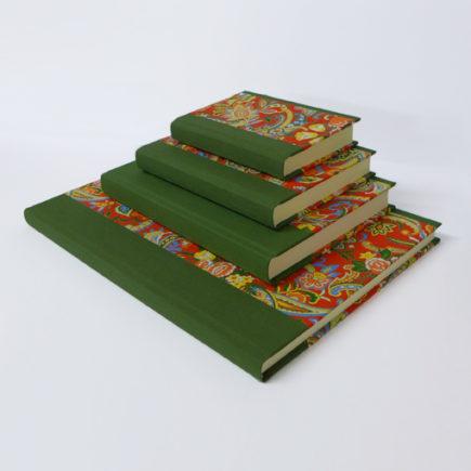 handmade notebooks dragon flower pattern