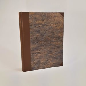 Handmade Album with Hand Marbled Paper