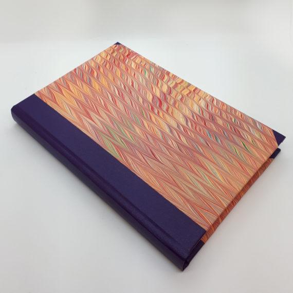 Blush Wave Notebook,, Hand Marbled, handmade, notebook