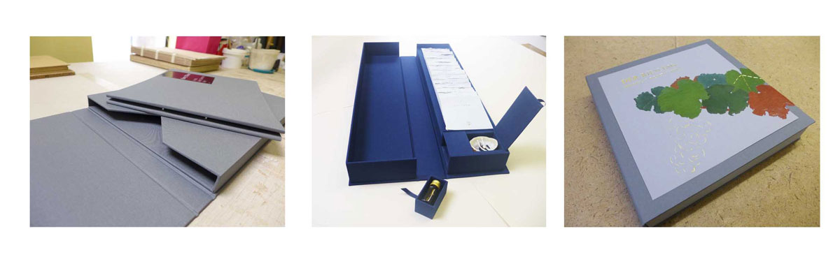 handmade presentation and portfolio boxes