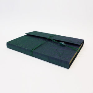 Emeral-Green-Silk-Notebook