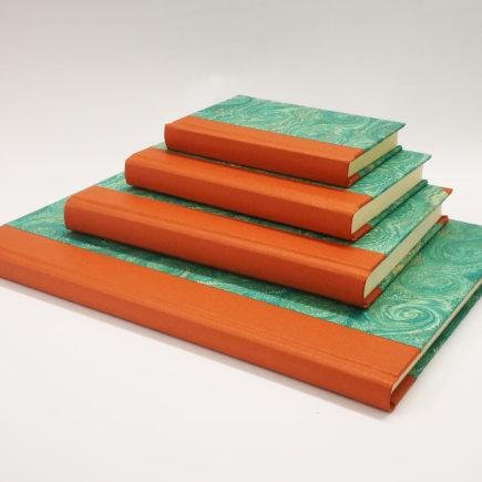 Garden Swirl Notebook,Notebook, handmade, ireland, hand marbled paper
