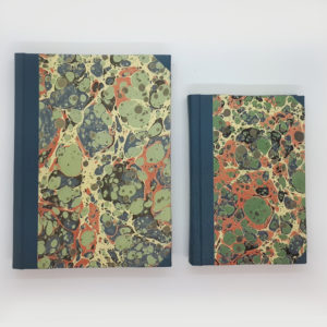 Sky View Hand Marbled Notebook selection