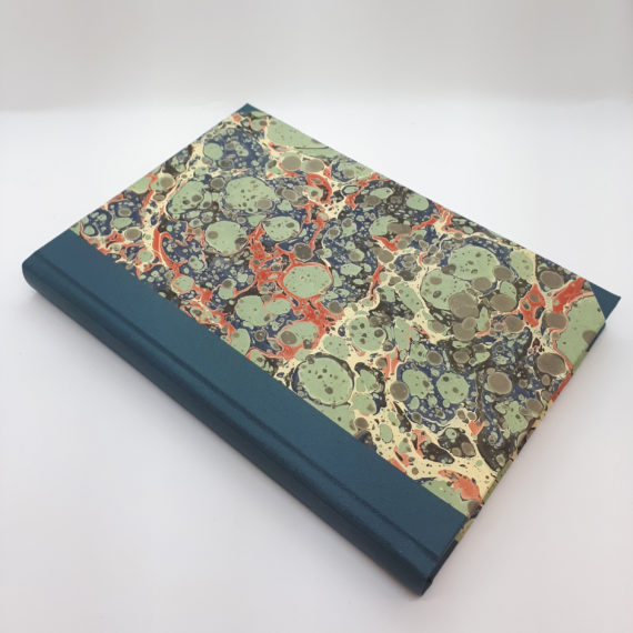 Sky View Notebook, Hand Marbled, handmade, notebook