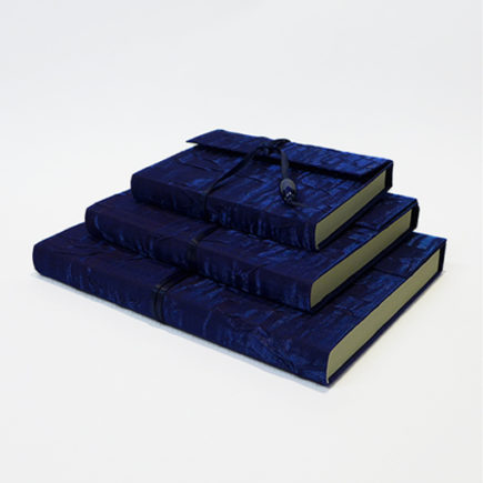 silk covered notebooks