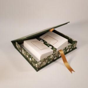 Green Flower Writing set