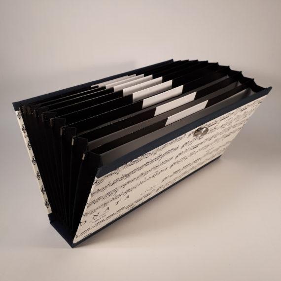 concertina file, concertina folder, organiser folder, organiser file, chiyogami paper, japanese paper, handmade, irish, irish craft, irish made, ireland, stationery, luxurystationery, A5, document folder
