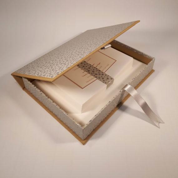 Silver Snow writing set, hubert, Writing set, Handmade, Irish, chiyogami