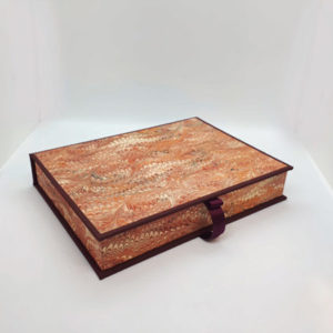 Red Marbled Writing Set Closed
