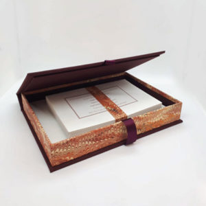 Red Marbled Writing Set Open
