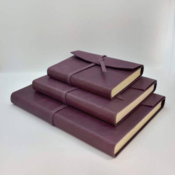 Handmade, Leather, eggplant, soft, journal