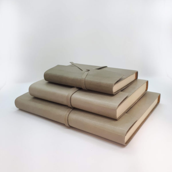 Leather, soft leather, journal, handmade, grey, dusty grey
