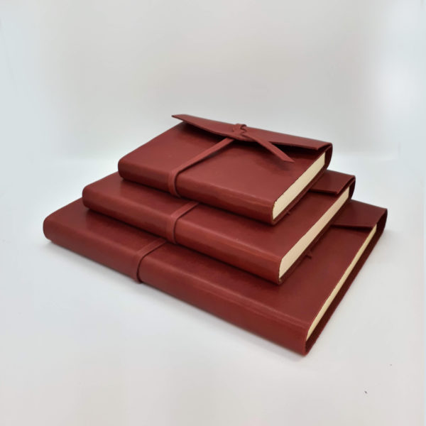 Leather, Journal, handmade, red, soft leather, ruby