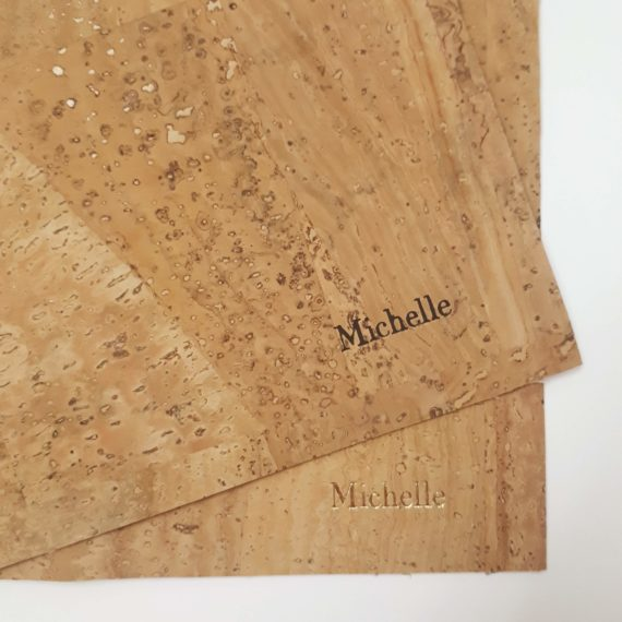 Cork Bark, Handmade Notebook, Embossing
