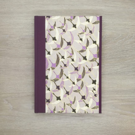 Ducks in flight notebook, japanese paper, chiyogami paper, notebook, handmade