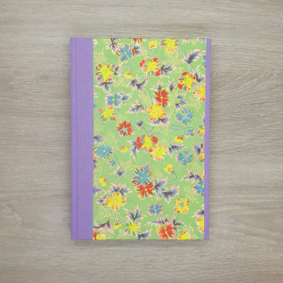 Luminous Flowers Notebook, japanese paper, chiyogami paper, notebook, handmade