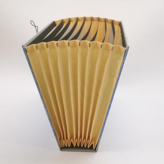 Concertina file, fan folder, handmade