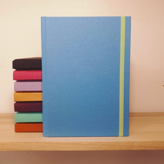 Personalised Linen Notebook, linen, handmade, notebook, handmade notebook, hubert