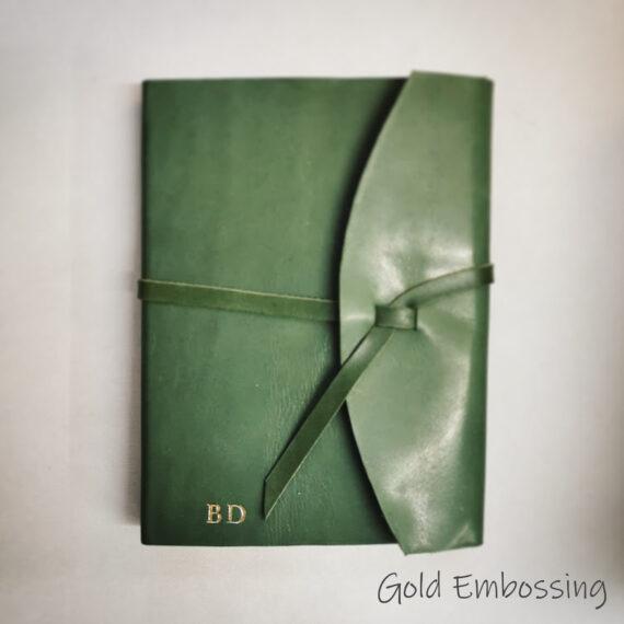 Handmade, Leather, Journal, Handmade leather Wrap Journal, embossing