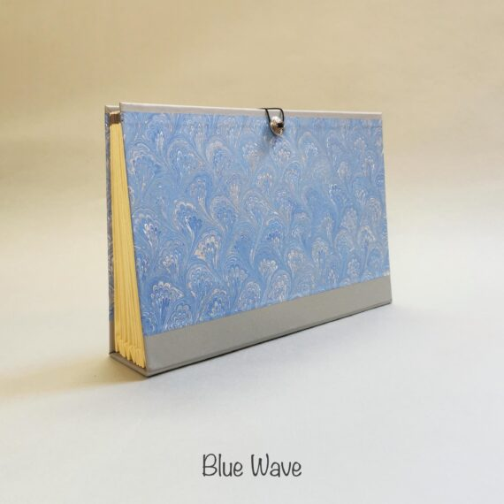 Blue Wave Concertina File, Handmade by Hubert Bookbindery, Cork City, Ireland