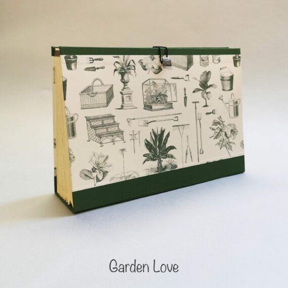 Garden Love Concertina File, Handmade by Hubert Bookbindery, Cork City, Ireland