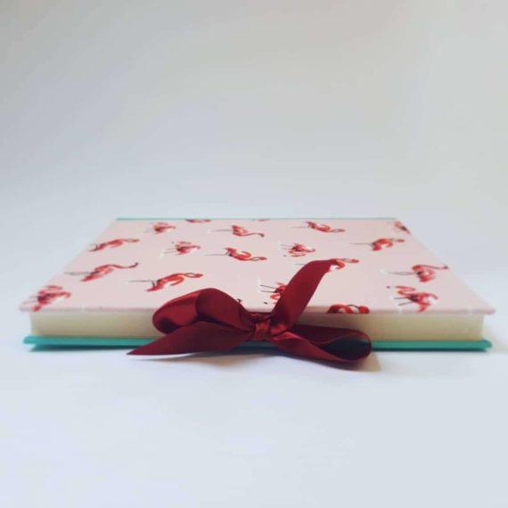 album, handmade album, flamingo, hubert, irish, irish craft, irishmade,