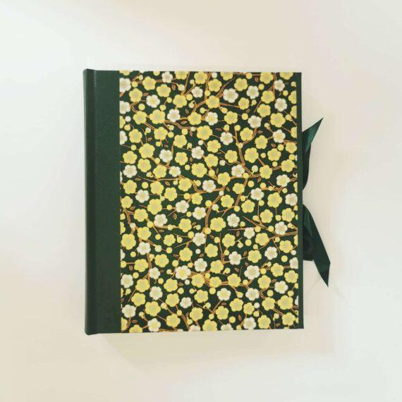 Emerald Garden Handmade Photo Album, Made by Hubert Bookbindery in Cork, Ireland.