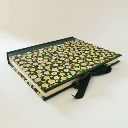 Emerald Garden Handmade Photo Album, Made by Hubert Bookbindery in Cork, Ireland.