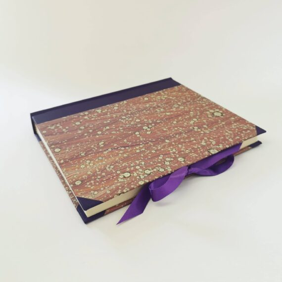 Mauve Marble Handmade Photo Album, made by Hubert bookbindery, Cork, Ireland.