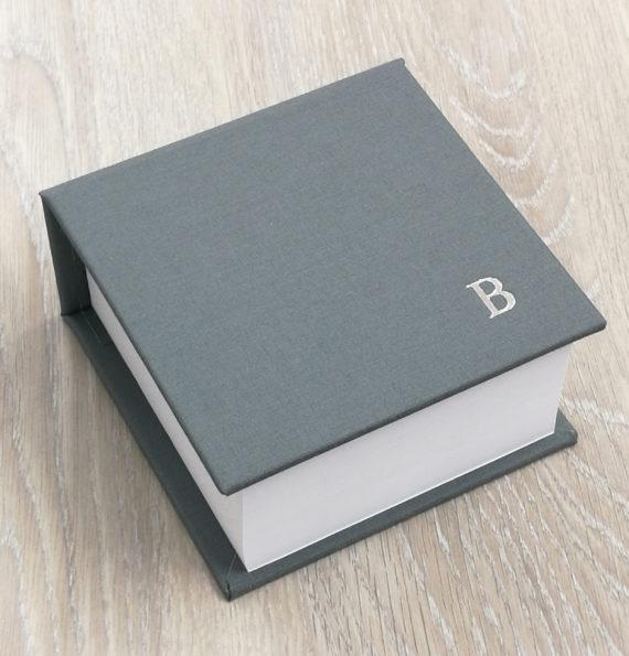 Notepad, personalised, handmade, linen