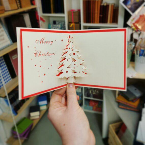 Pop up Christmas Card, hubert bookbindery Cork