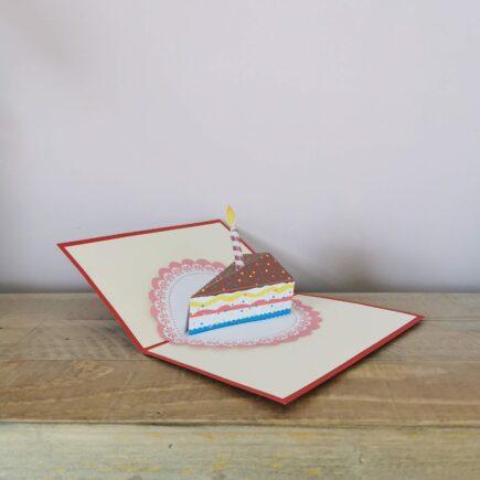 Pop up Cake Card, hubert bookbindery Cork