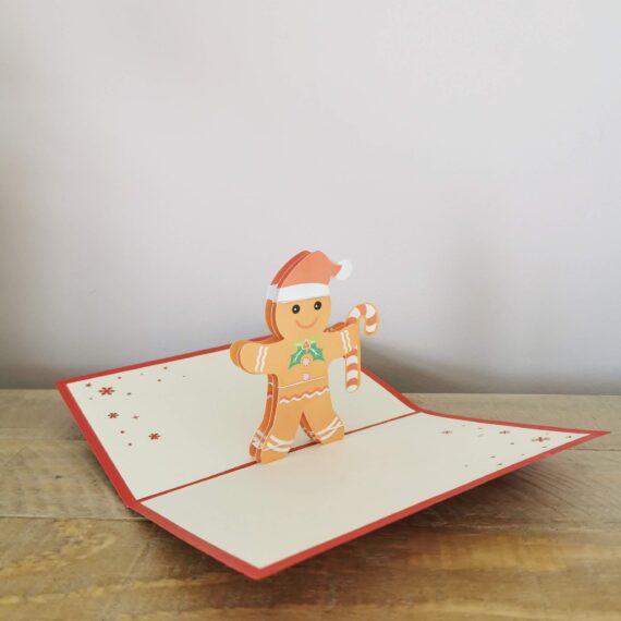 Pop up Gingerbreadman Card, hubert bookbindery Cork