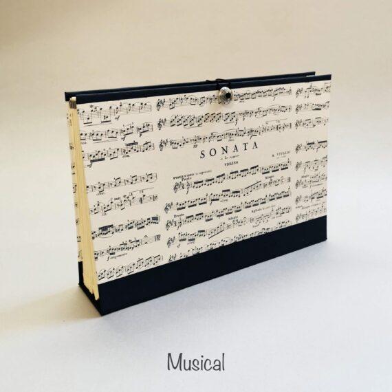 Musical Concertina File, Handmade by Hubert Bookbindery, Cork City, Ireland