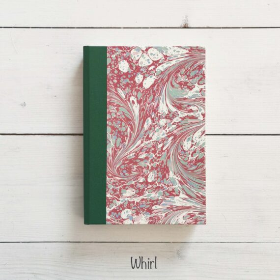 Notebook, handmade, ireland, hand marbled paper