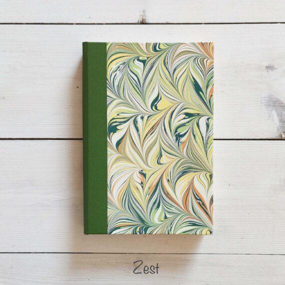 Notebook, handmade, ireland, hand marbled paper