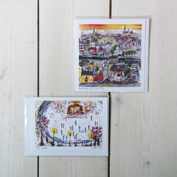 card, illustration, cork city, cork city card, pear shaped studio