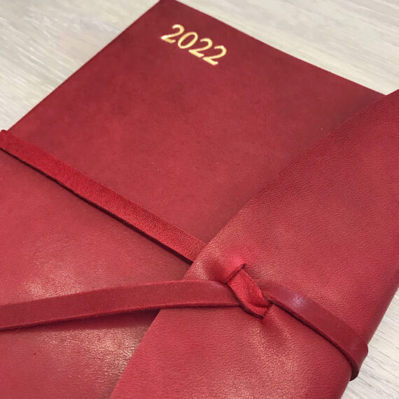 2022 Luxury Leather Diary front cover Hubert Bookbindery Ireland